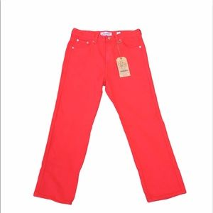 NEW Red Lucky Brand Jeans Straight Crop